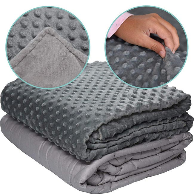 what are weighted blankets made of